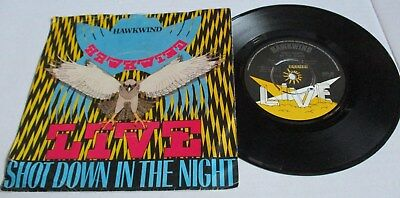 HAWKWIND SHOT DOWN IN THE NIGHT c/w URBAN GUERILLA 1980 BRONZE RECORDS PIC COVER