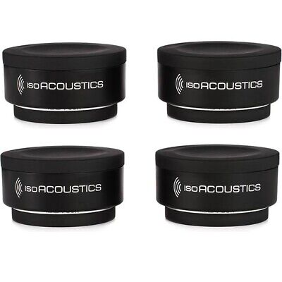 (4-Pack) IsoAcoustics Iso-Puck Studio Monitors Speakers Amps Cab Isolation Puck