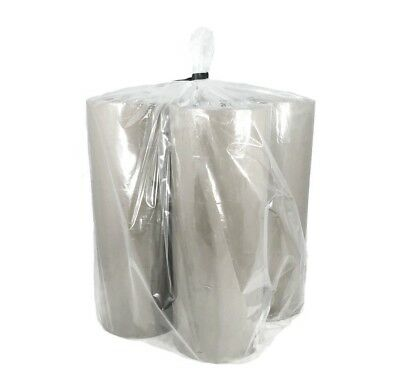 "10"" x 10"" x 24"" Gusseted Poly Bags Clear LDPE Large Open End Plastic Bag 2 Mil"