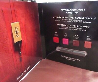 Ysl Yves Saint Laurent Tatouage Couture Matte Lip Stain