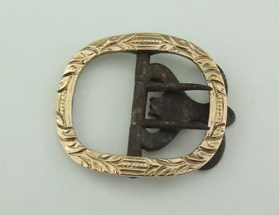 Georgian  Solid   Gold & Silver Buckle