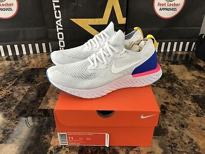 099901de5402b ... coupon code for new nike epic react flyknit white blue pink red white  yellow aq0067 101