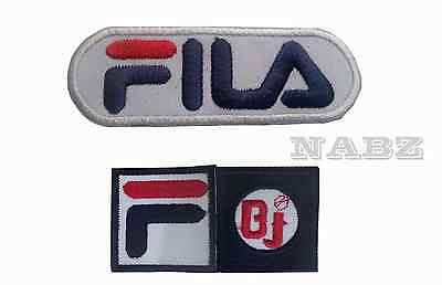 FilaBJ Blue Fila Embroidered iron sew on Patch Badge