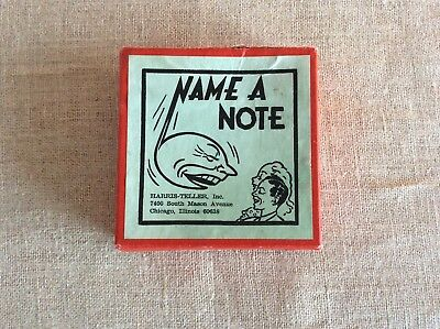 Vintage Name a Note Flash Cards by Harris Teller