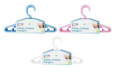 Baby Clothes Hangers 8 Pack Assorted Colours
