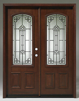 SUMMER SALE!!Solid Wood Mahogany Front Unit Pre-hung &Finished DMH7107-5 GL02