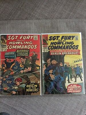 Sgt. Fury #34 and 35 (Sep 1966, Marvel)