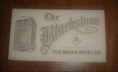 Vintage Ink Blotter The Blackstone Hotel Chicago - Drake Hotel Co. - Building