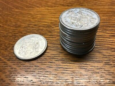 Canadian Fifty (50) Cent 80% Silver Coins Various Years   63 left total