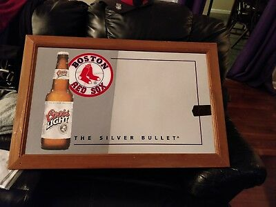 Red Sox Coors Light Man Cave Beer Mirror