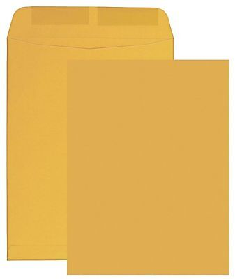 "6"" x 9""  Kraft Brown Catalog/Open End Envelopes, Gummed Flap, 500 Count, 24Lb"