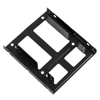 """Dual 2.5"""" SSD HDD to 3.5"""" Metal Mount PC Casing Hard Drive Bay Bracket Adapter"""