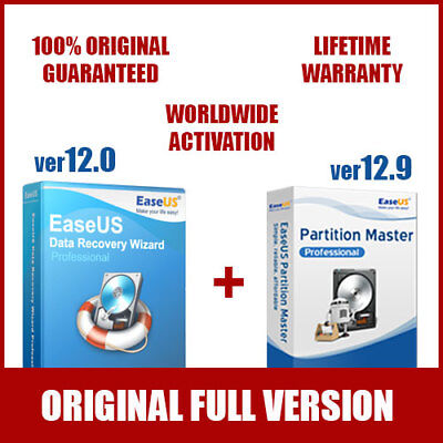EaseUS Data Recovery Wizard PRO + Partition Master PRO - Hottest Bundle