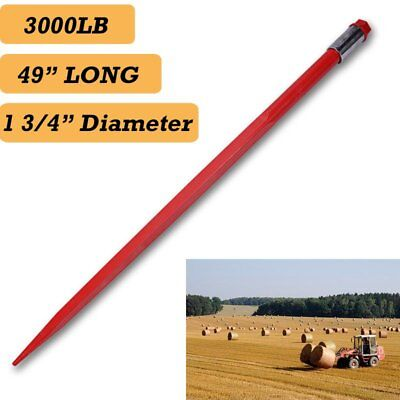 "49"" Square Hay Bale Spear 3000lbs capacity 1 3/4"" wide w/ nut and sleeve Conus 2"