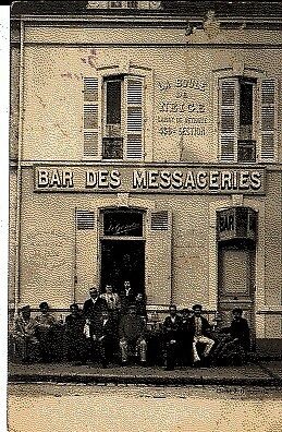 (S-77571) France - 72 - Le Mans Cpa Bar Des Messageries - La Boule De Neige Cais