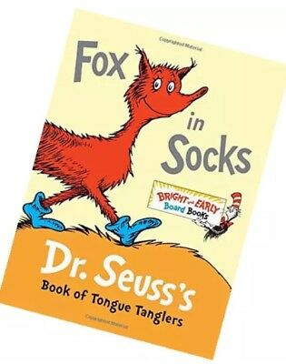 🚛Fast Shipping! NEW Boardbook Dr Seuss Fox In Socks Book Of Tongue Tanglers