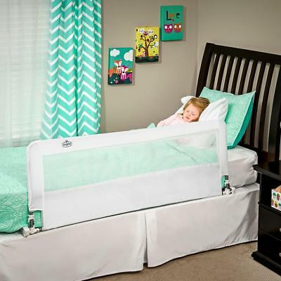 Regalo Hide Away Extra Long Safety Bed Rail for Kids Baby White 54 x 20 inches