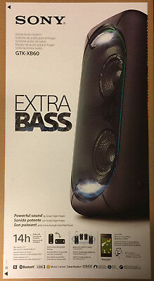 SONY One Box Soundsystem GTK-XB60 schwarz Bluetooth NFC  EXTRA BASS 2 Beats