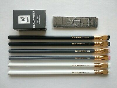 PALOMINO BLACKWING Pencil Popular Set(Original 602 Pearl Eraser Sharpener Guard)