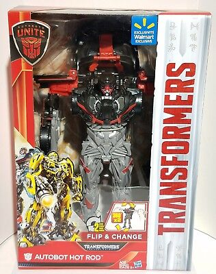 Transformers The Last Knight Autobots Unite Deluxe HOT ROD Walmart Exclusive