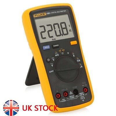 NEW FLUKE 15B+ F15B+ Auto Range Digital Multimeter Meter Cat III, AC DC Current