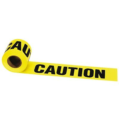 "Irwin ""CAUTION"" BARRIER TAPE 90mx75mm High Visibility, Weatherproof Vinyl"