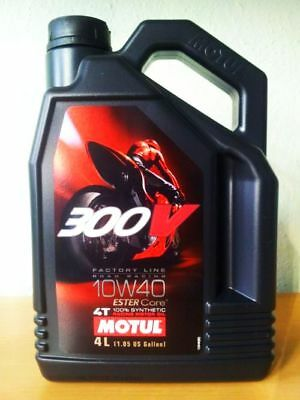4L Motul Factory Line 300V 10W40 4T 10W-40 Road Racing