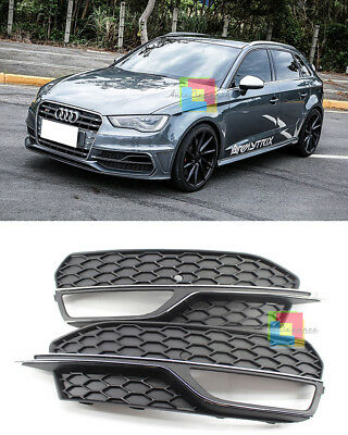 Griglie Fendinebbia Audi A3 8V 2012-2016 - Rs3 S3 In Abs Per Paraurti Sline S3