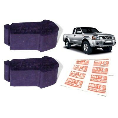 2 SIDE HOOD Bumper Rubber Stop Cushion For 1997-2004 Nissan Frontier Navara  D22