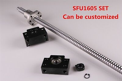 Ball Screw SFU1605 w Ball Nut End machine w BK12/BF12 End Support L=300 - 1500MM