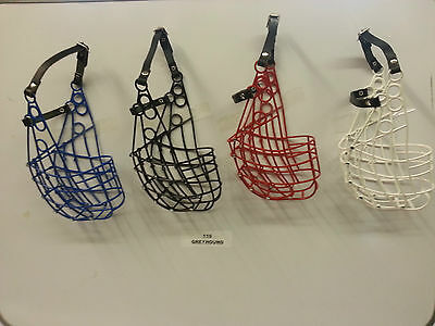 Greyhound And Large Dog Lightweight 110  Muzzle Various Colours