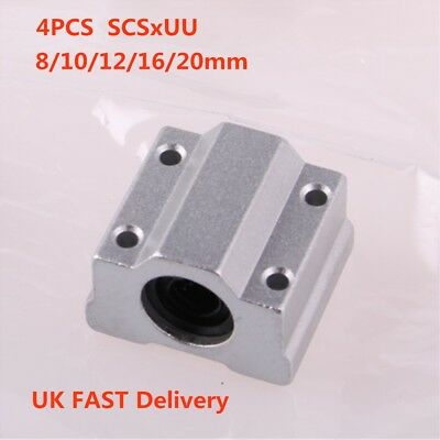4PCS SC8UU SCS8UU - SCS20UU 8-20mm Linear Motion Ball Bearing Slide Unit CNC