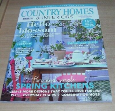 Country Homes & Interiors magazine APR 2018 Spring Kitchens, Slap-Up Bruches &