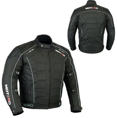 Mens Waterproof Genuine Motorbike Motorcycle Cordura Jacket CE Armoured