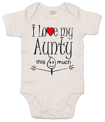 Naughtees Clothing Strampler I Love My Mutti Weiß Baumwolle Baby Body Anzug