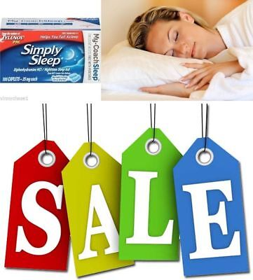 Simply Sleep from Tylenol PM 100Ct Nighttime Sleep Aid 25mg-7 LEFT AT THIS PRICE