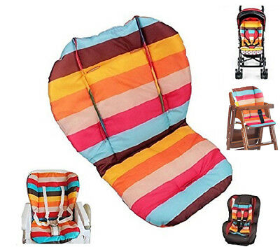 Baby Stroller  / High Chair Seat Cushion Liner Mat Pad Cover Protector Rainbow