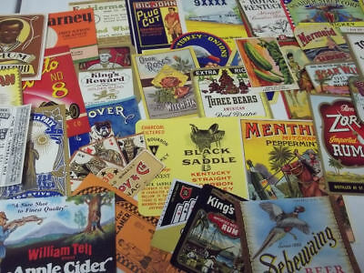 55 Different Small Vintage Product labels...All Very nice Graphics