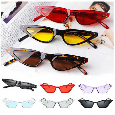2018 Small Cat Eye Sunglasses Women Oval Steampunk Rivet Fashion Shades Classic
