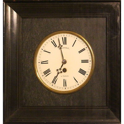 A Mid C19th French Wall Clock in Ebonised Case W H Tooke A Paris