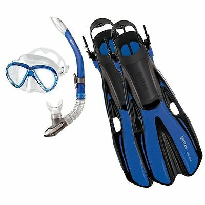 Mares VOLO MAREA Mask Snorkel Fins CHILDS SNORKELLING SET - BLUE - SALE UK 2-5