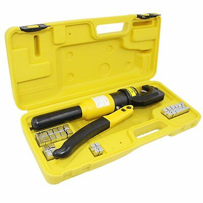 Hose Battery Terminal Lug Copper Wire Hydraulic Cr imper Kit Crimping Tool Set