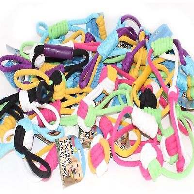 Bulk Pack Assorted Pet Dog Rope Chew Pull Throw Tug Fetch Toys
