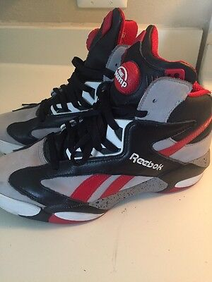 17f4c2a6657 REEBOK SHAQ ATTAQ Tin Grey Black-Red-White Brick City M40173 Men s ...