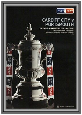Collectors/Photograph/Print/Portsmouth/Cardiff/2008 FA Cup Final Programme Cover