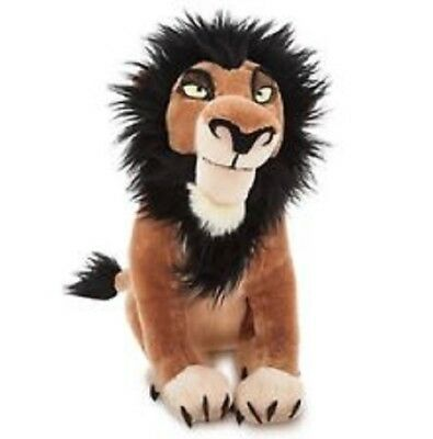 "Disney Store The Lion King Scar Plush 14"" NWT Sold Out Rare New with tags 2017"