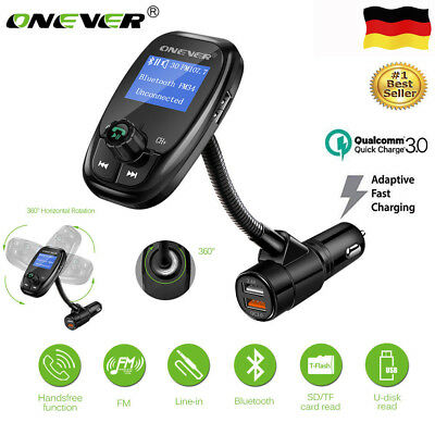 Wireless Auto Bluetooth Music Player FM Transmitter Freisprecheinrichtung A2DP