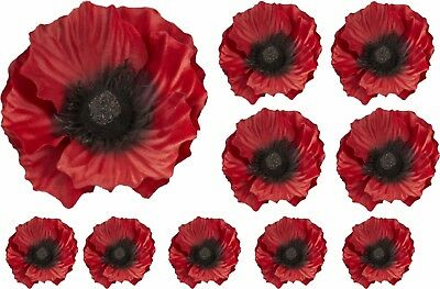 Red Poppy Flower Decals Car Sticker Graphics Nursery Window Decorations Art