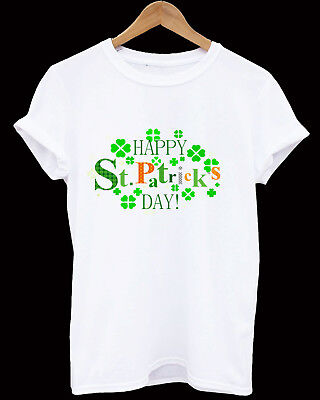 St Patricks Day T-Shirt Ireland logo Shamrock Paddys Day Men Women kids