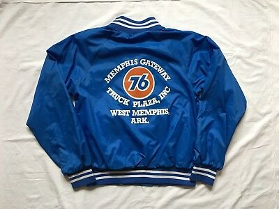 Vintage 70s 80s 76 Gas Station Memphis Gateway Truck Plaza Windbreaker Jacket